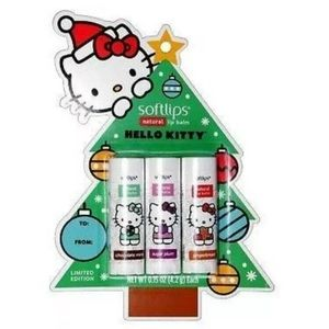 New SOFTLIPS 3pc Lip Balm Set Hello Kitty Sanrio